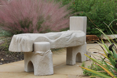 River Bench Commissions Limestone
